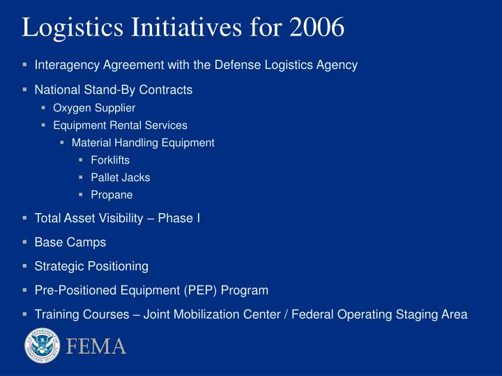Interagency Agreement with the Defense Logistics Agency