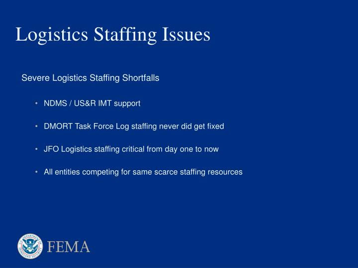 Logistics Staffing Issues