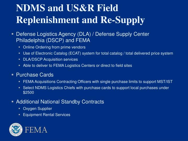 Defense Logistics Agency (DLA) / Defense Supply Center Philadelphia (DSCP) and FEMA