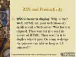 rss and productivity
