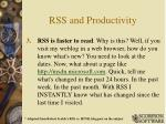 rss and productivity2