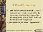 rss and productivity3