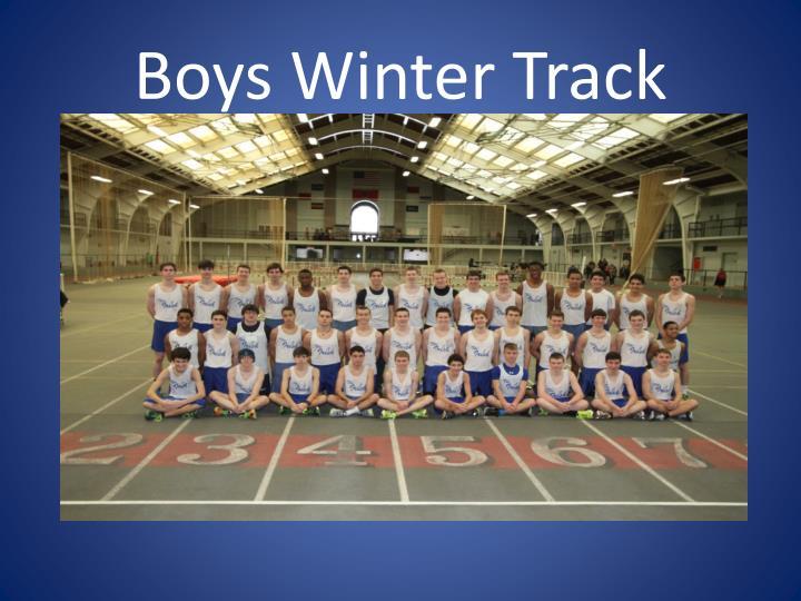 Boys Winter Track