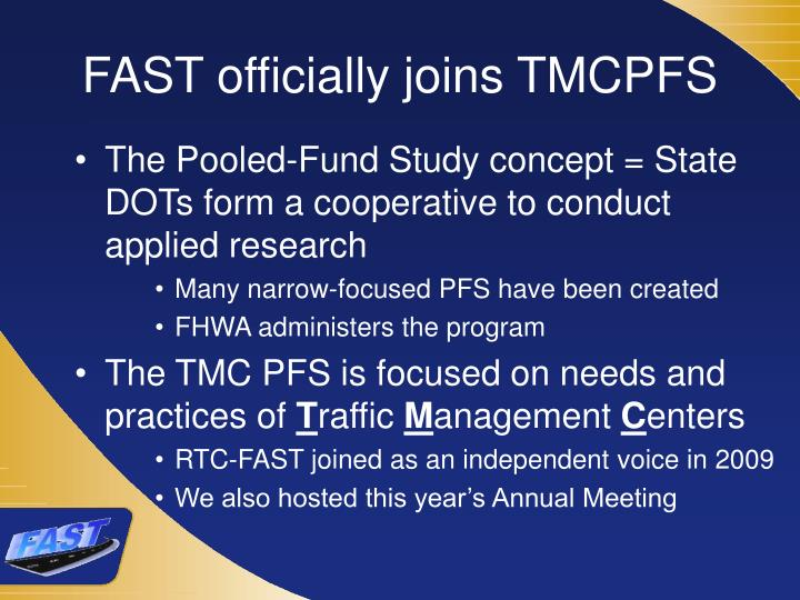 FAST officially joins TMCPFS