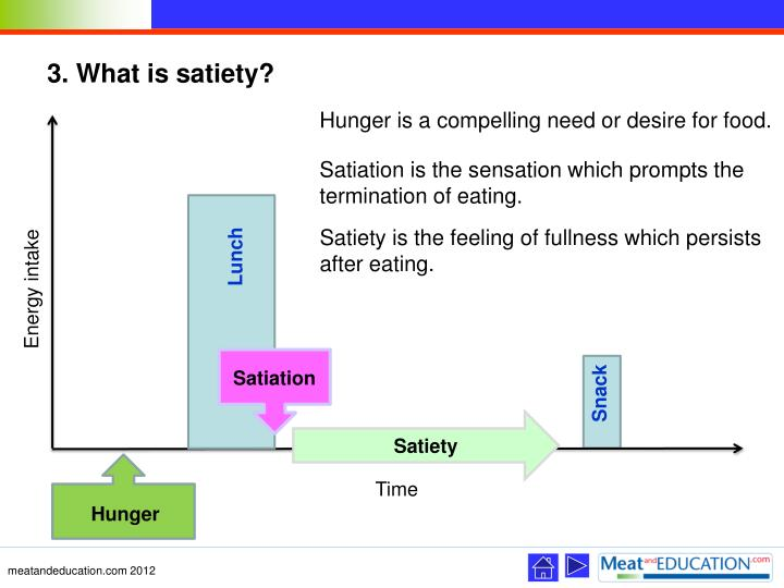 3. What is satiety?
