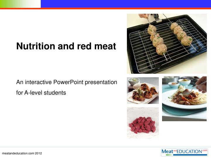 Nutrition and red meat