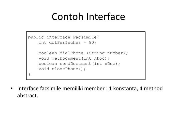 Contoh Interface