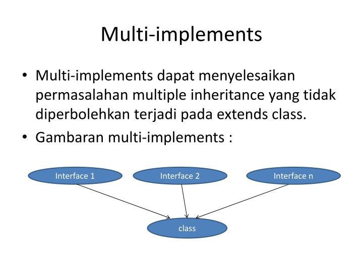 Multi-implements