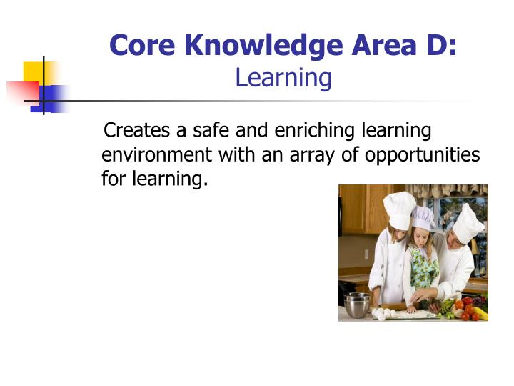 Core Knowledge Area D: