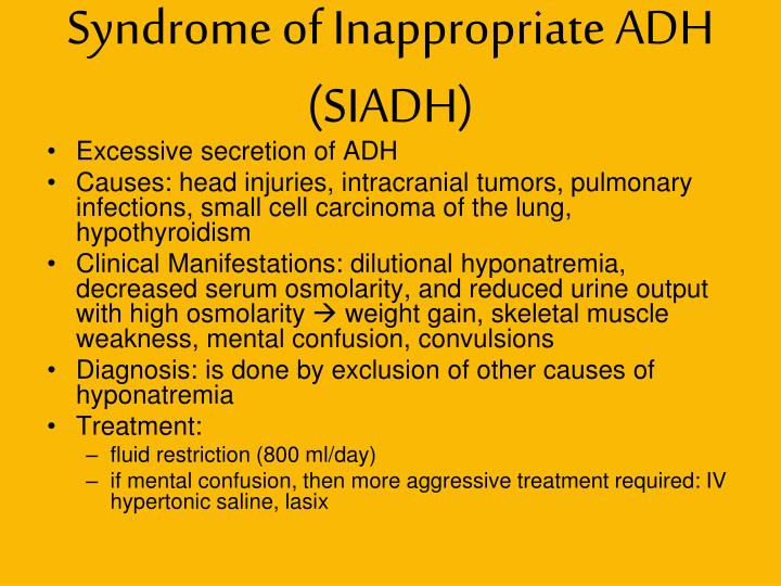 Syndrome of Inappropriate ADH (SIADH)