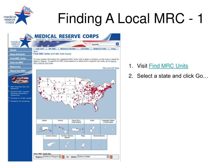Finding A Local MRC - 1