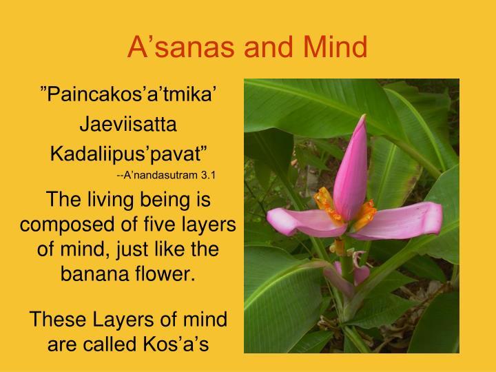 A'sanas and Mind