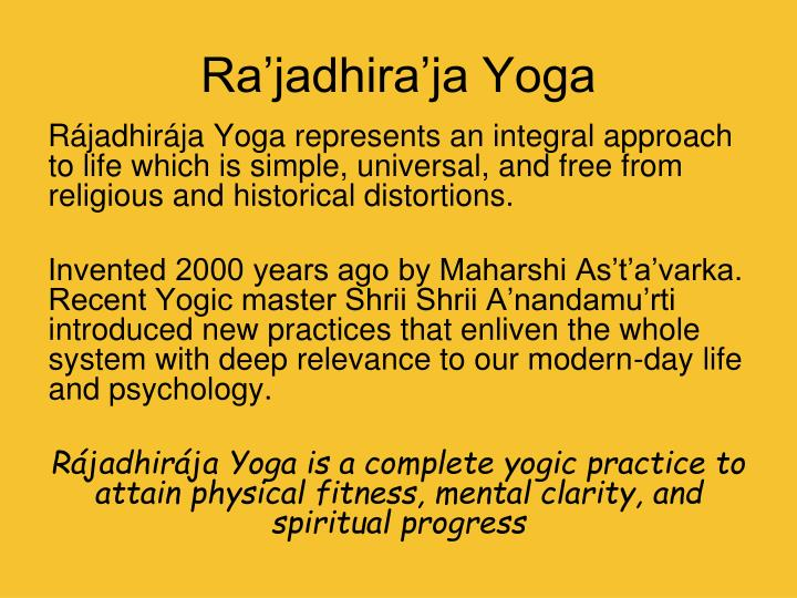 Ra'jadhira'ja Yoga