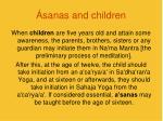 sanas and children