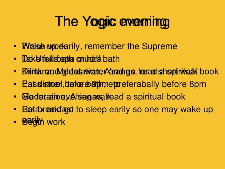 The Yogic morning