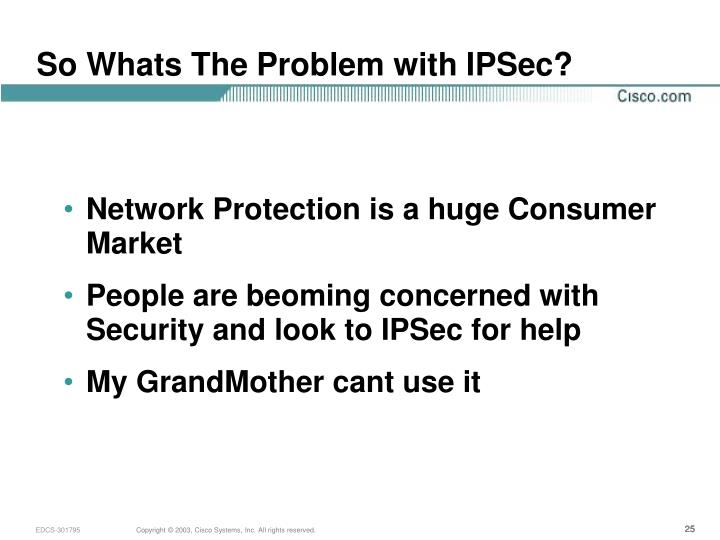 So Whats The Problem with IPSec?