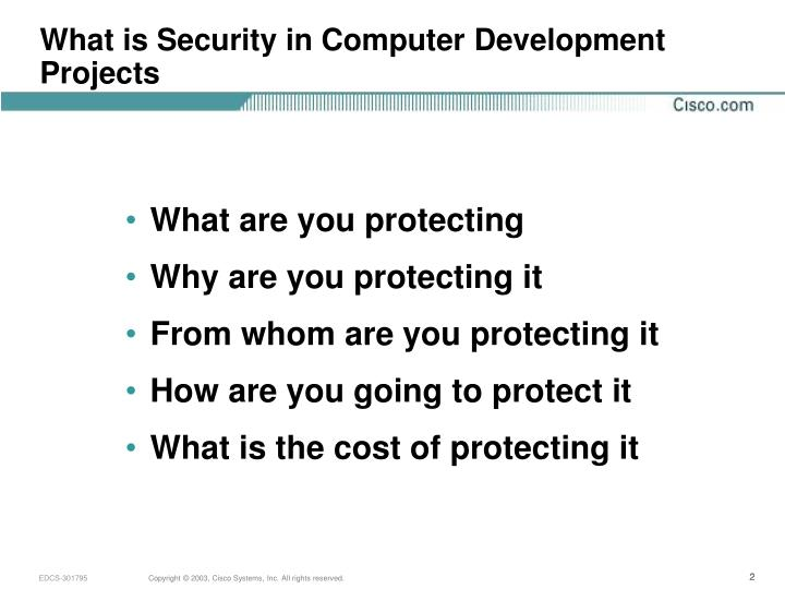 What is Security in Computer Development Projects