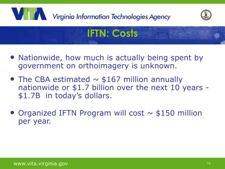 IFTN: Costs