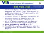 iftn next steps