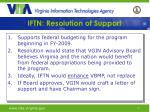 iftn resolution of support