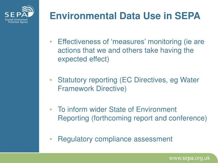 Environmental Data Use in SEPA