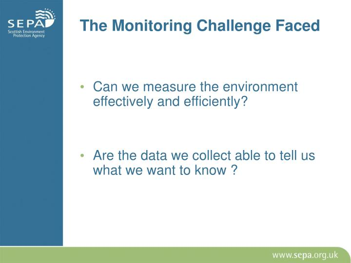 The Monitoring Challenge Faced