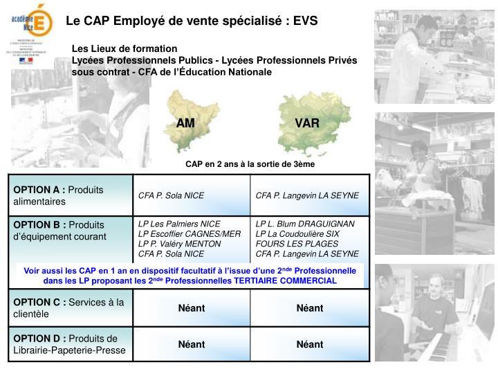 Le CAP Employé de vente spécialisé : EVS