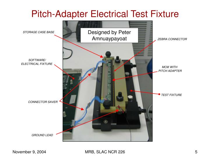 Pitch-Adapter Electrical Test Fixture