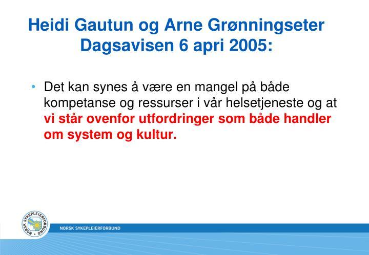 Heidi Gautun og Arne Grønningseter