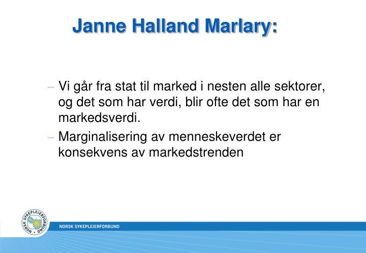 Janne Halland Marlary: