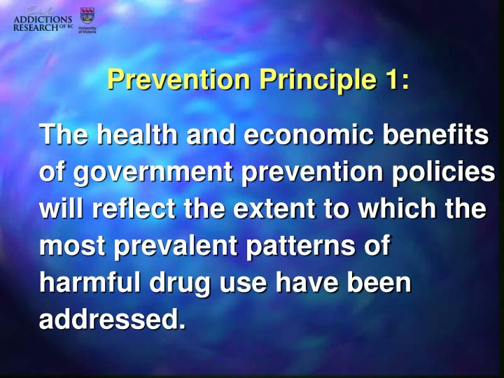 Prevention Principle 1: