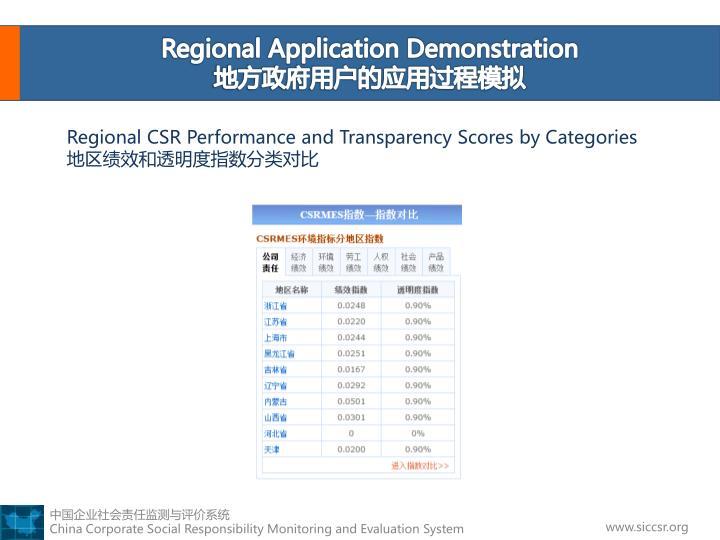 Regional Application Demonstration