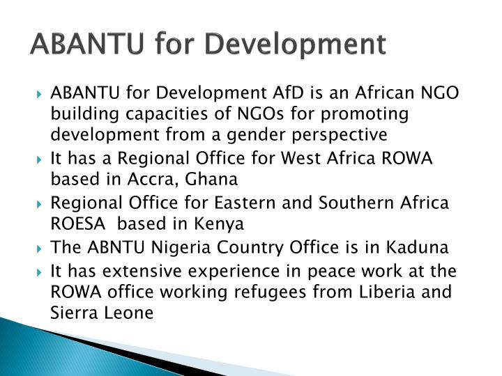 ABANTU for Development