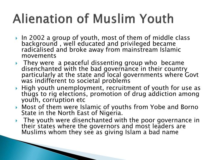 Alienation of muslim youth