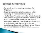 beyond streotypes