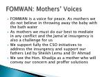 fomwan mothers voices