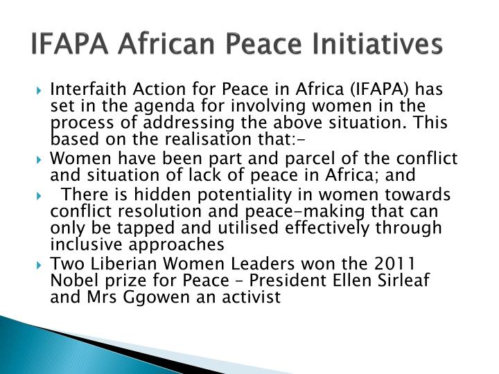 IFAPA African Peace Initiatives