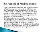 the appeal of madina model