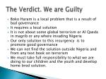 the verdict we are guilty