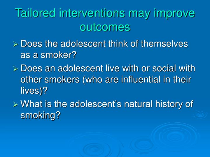 Tailored interventions may improve outcomes