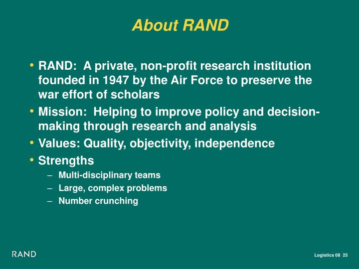 About RAND