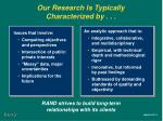 our research is typically characterized by