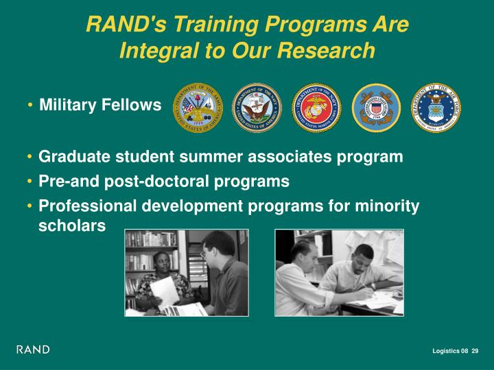 RAND's Training Programs Are