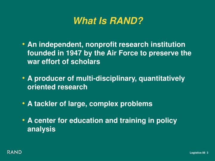 What Is RAND?