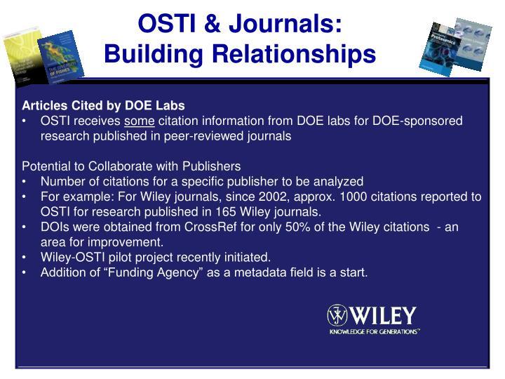 OSTI & Journals: