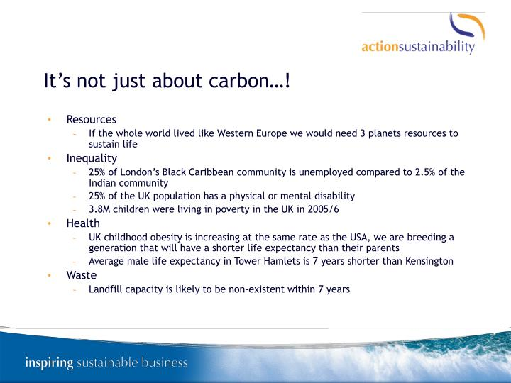 It's not just about carbon…!