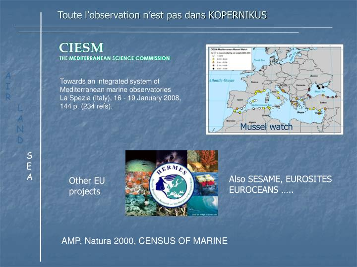 Towards an integrated system of Mediterranean marine observatories