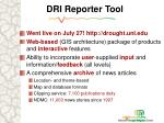 dri reporter tool