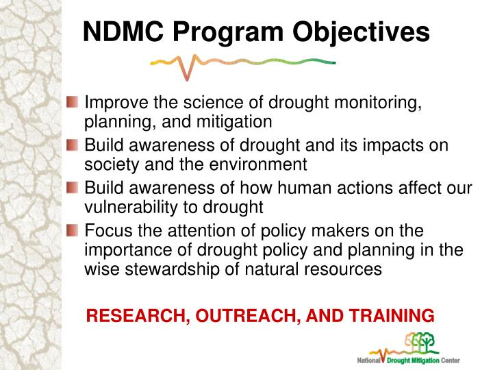 NDMC Program Objectives