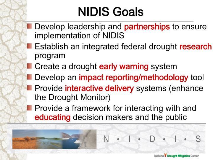 NIDIS Goals